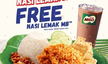 Get FREE Nasi Lemak MB with Milo Tomorrow at Marrybrown