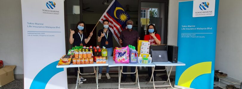 Tokio Marine Life Insurance Malaysia donates 10 laptops, 10 CPUs and household items to 5 NGOs