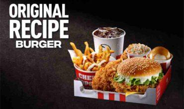 KFC ORIGINAL RECIPE BURGER A HOMAGE TO THE COLONEL'S DECADES-LONG PERFECTED RECIPE